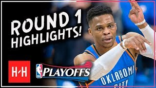 Russell Westbrook Full ROUND 1 Highlights vs Utah Jazz | All GAMES - 2018 Playoffs
