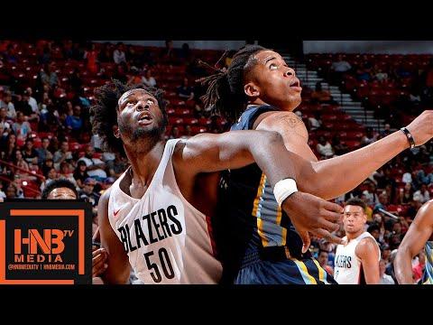 Memphis Grizzlies vs Portland Trail Blazers Full Game Highlights / July 16 / 2018 NBA Summer League