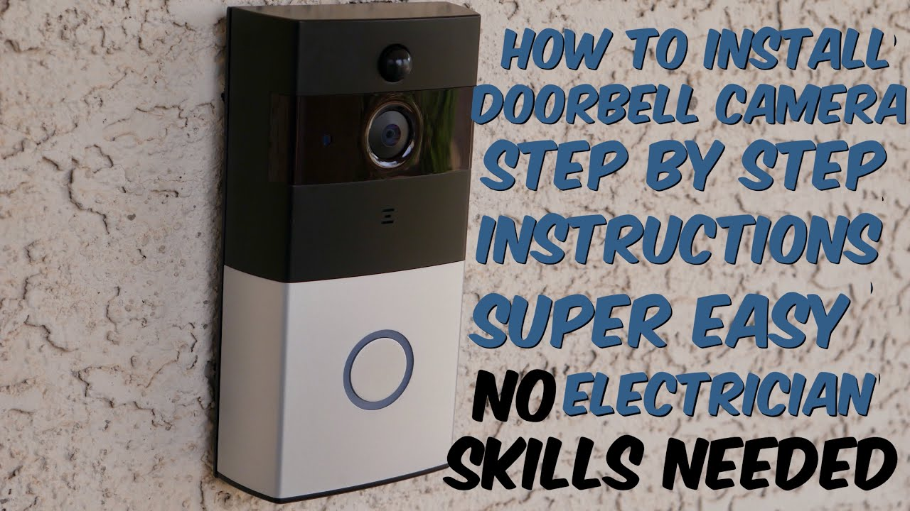 how to install a smart doorbell camera step by step instructions for akaso or ring video doorbell [ 1280 x 720 Pixel ]