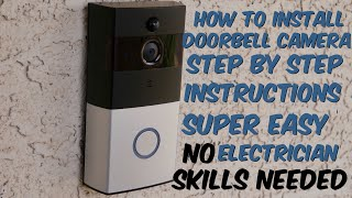How To Install A Smart Doorbell Camera   Step By Step Instructions For AKASO or Ring Video Doorbell