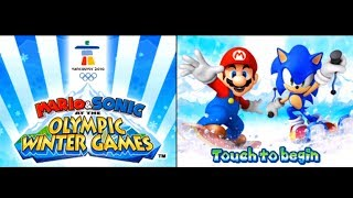 Mario & Sonic at the Olympic Winter Games (DS) [Part 1: Frostown] (No Commentary)