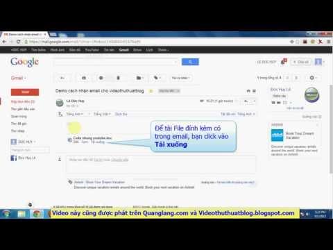 Hướng dẫn cách gửi và nhận email trong hòm thư Gmail