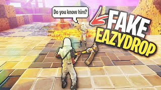 FAKE EazyDrop tries to SCAM ME... 🤣 (Scammer Gets Scammed) In Fortnite Save The World