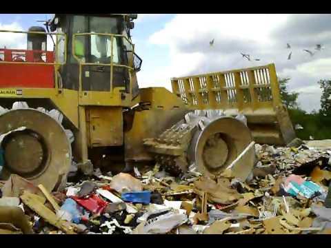 Waste at Baltimore County Landfill Garbage Dump
