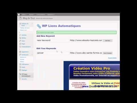 Plugin WP Liens Automatiques