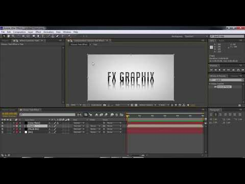 glossy text effect in After effect