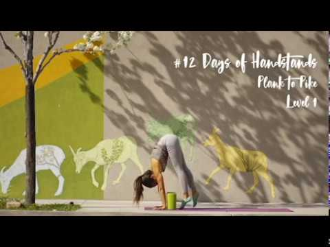 How to Jump from Plank to Standing Forward Fold with Blocks | YogaSlackers 12 Days of Handstands