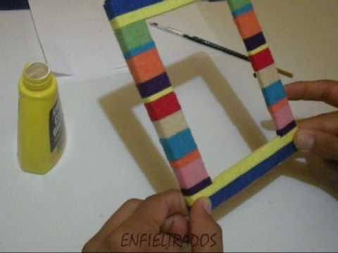 C mo decorar un marco de fotos how to decorate a photo frame youtube - Como decorar mis fotos ...