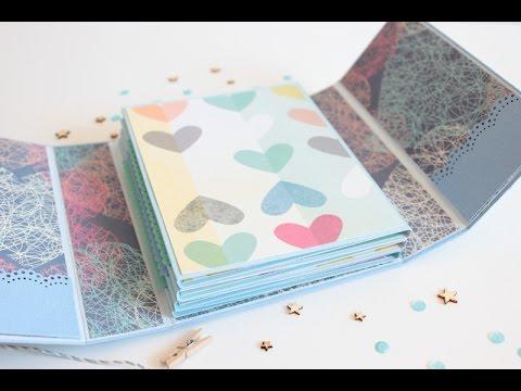Mini lbum desplegable en zig zag i folded mini album - Como hacer un album de fotos ...