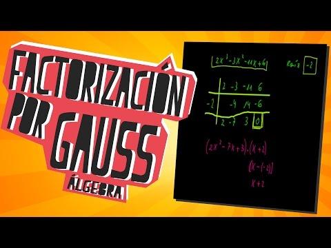 Factorización por Gauss - Álgebra - Educatina
