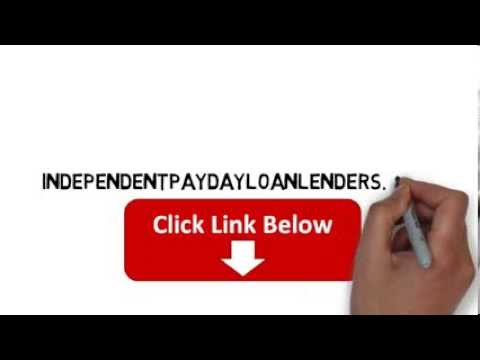 Видео Independent payday lenders