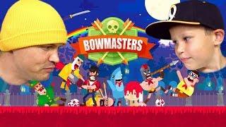 HEADSHOT Скелет против Тора и Хипстера в Bowmasters