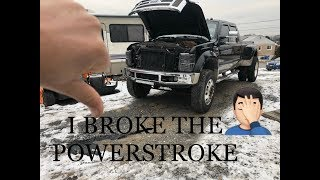 I BROKE MY TRUCK TRYING TO DO MAINTENANCE!!!