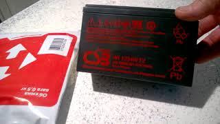 Видеообзор распаковки аккумулятора CSB для ИБП 12В  9 А/Ч