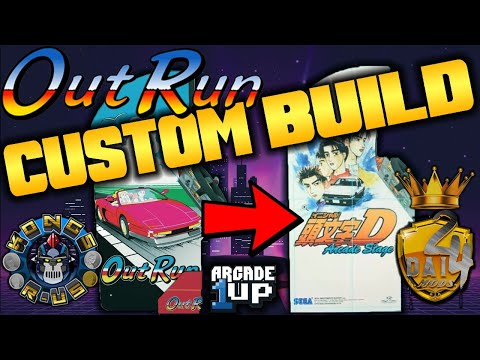 Custom OutRun/Initial D Arcade1Up - LIVE Modding Session w/ 2Dai4 & Kongs-R-Us from Kongs-R-Us