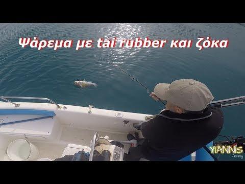 Ψάρεμα με tai rubber και ζόκα