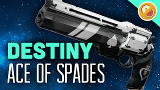 DESTINY Ace of Spades Fully Upgraded Exotic Hand Cannon Review (The Taken King Exotic)