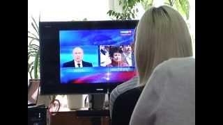 За трансляцией «Прямой линии» Президента РФ орловчане следили в библиотеке