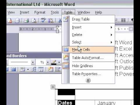 Microsoft Office FrontPage 2003 Merge Cells In The One Cell A Table