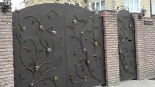 Красивые кованые ворота арочные , ковка на ворота из металла листового(, 2016-10-07T13:50:03.000Z)