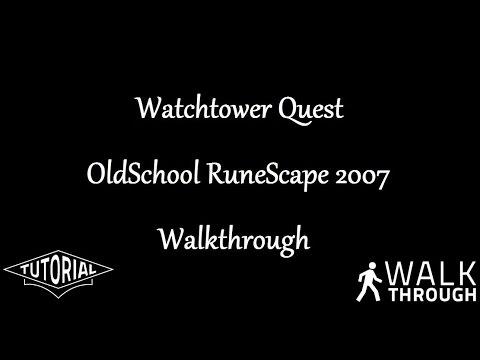 Watchtower Quest on RuneScape 2007 Old School Server