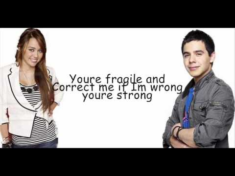 Miley Cyrus and David Archuleta  I wanna know you with lyrics