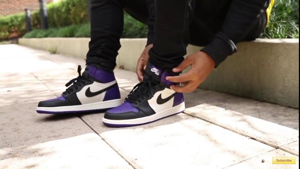 "best sneakers 7c060 b9221 Air Jordan 1 ""Court Purple"" on feet EARLY!"