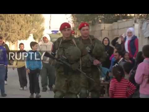 Syria: Russian military police secure safe delivery of humanitarian aid to Eastern Ghouta