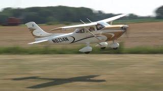 Giant Scale Cessna 182 RC plane w/ 4 cylinder gas engine!! 4-stroke!!