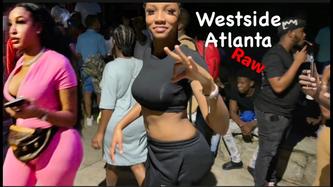Deep Inside The Raw Streets of Westside Atlanta - Bowen Homes Day - 4k