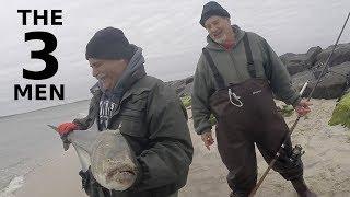 Риболовля на луфаря в Джонс Біч & ''три чоловіки'' - небесна історія