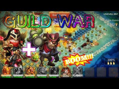 Michael & Iron Mino Guild War BOOM! - Castle Clash