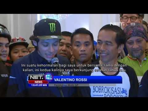 NET12 - Jorge Lorenzo dan Valentino Rossi jadi tamu Jokowi
