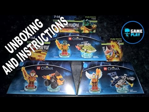 Lego Dimensions Chima Fun Packs Wave 1 Unboxing And Instructions
