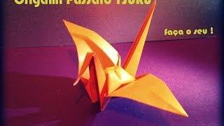 Como fazer um Pássaro de Origami - O Pássaro TSURU da Prosperidade - Papiroflexia
