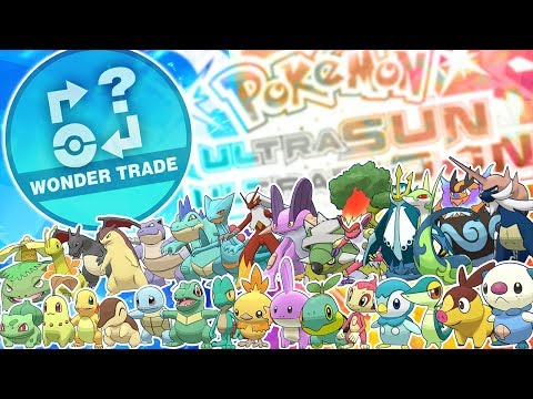 Wonder Trading All Shiny Starters! Fully Evolved and Little Cup! Pokemon Ultra Sun and Ultra Moon!