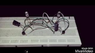 2 led flasher circuit using BC548 transistor