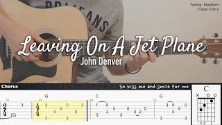 Download Leaving On A Jet Plane - John Denver | Fingerstyle Guitar | TAB tutorial + Chords + Lyrics