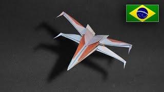 Origami: Nave Star Wars / X Wing - Instruções em Português PT BR
