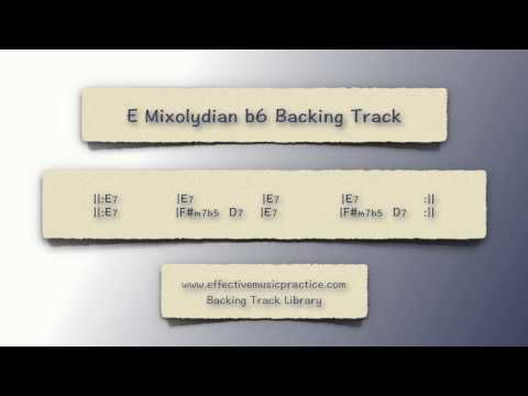 E Mixolydian b6 Backing Track