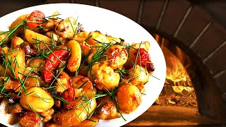 Roasted Baby Potatoes in the Oven with Vegetables