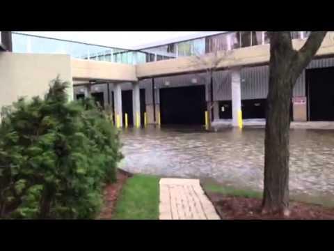 Chicago Flood outside the Hyatt Regency Hotel
