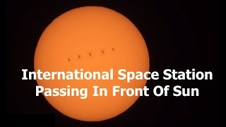 ISS Passing In Front of the Sun.