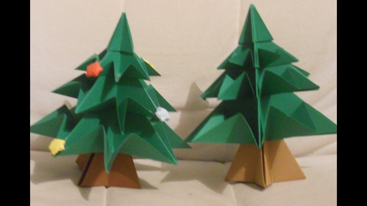 Rbol de navidad de cartulina con origami especial - Arbol de navidad de origami ...