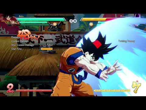 SS Goku double lvl1 into spirit bomb dhc