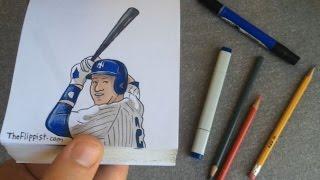 Derek Jeter Hand-Drawn Animated Flipbook