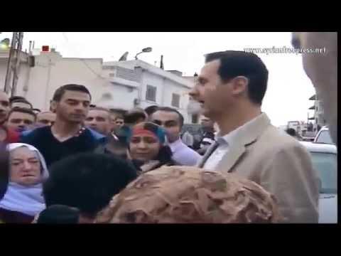 President Bashar al Assad visits Maaloula town, Syria on Easter 2014
