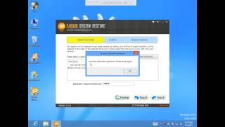How to restore system with Eassos System Restore