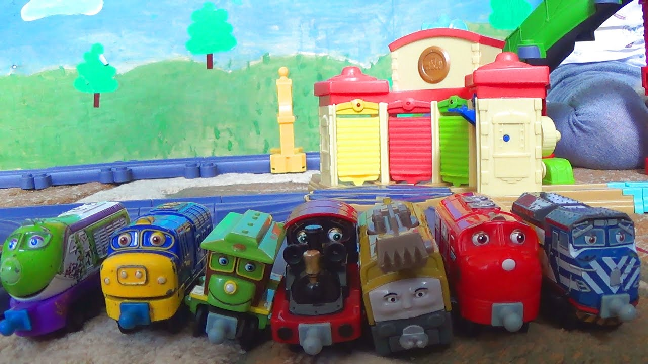 Паровозики из Чаггингтона - соревнования между поездами какой поезд проедет дальше - Видео для детей
