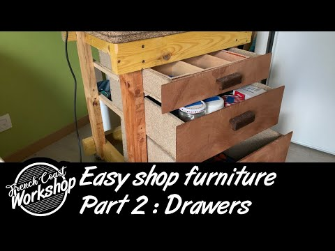 Easy Shop Furniture | Part 2 : Workbench Drawers || DIY || Workshop Essentials